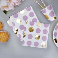Pattern Works Lilac Dots Napkins (16)